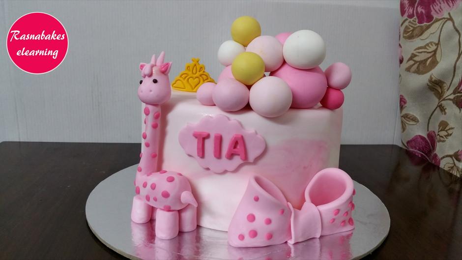 Giraffe Cake Design For Kids Birthday