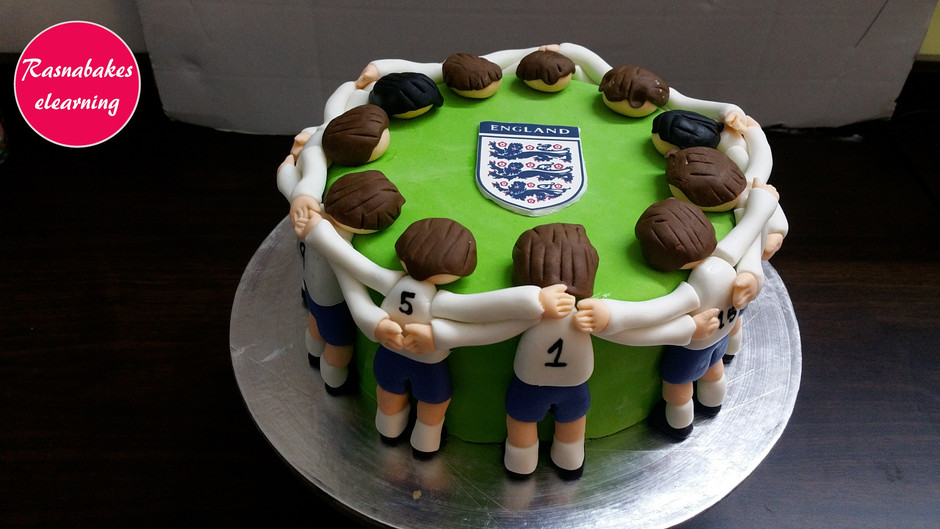 Footballer cake design step by step decorating method and tutorial
