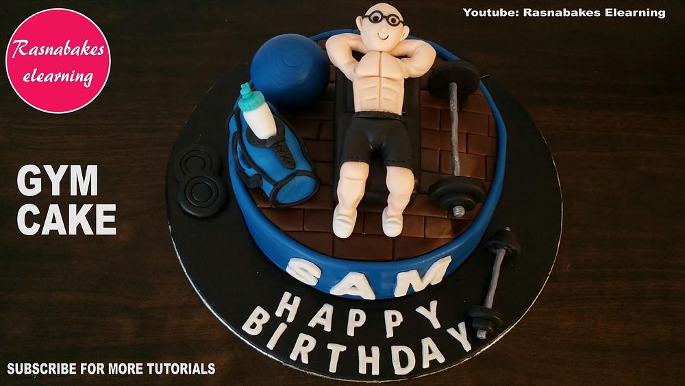 Gym cake design