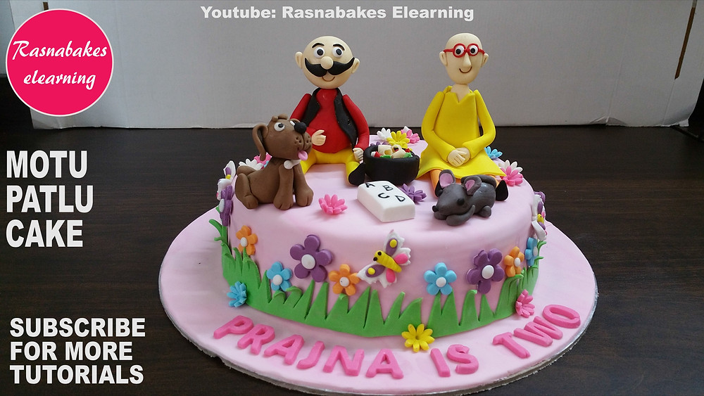 Motu Patlu ki jodi cake designs