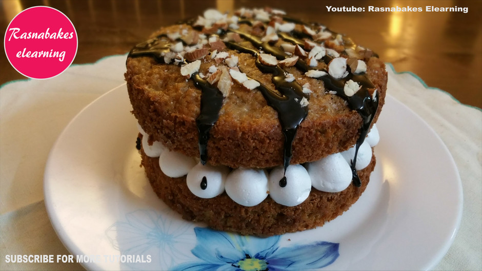 Easy Banana Victoria cake dessert with few ingredients