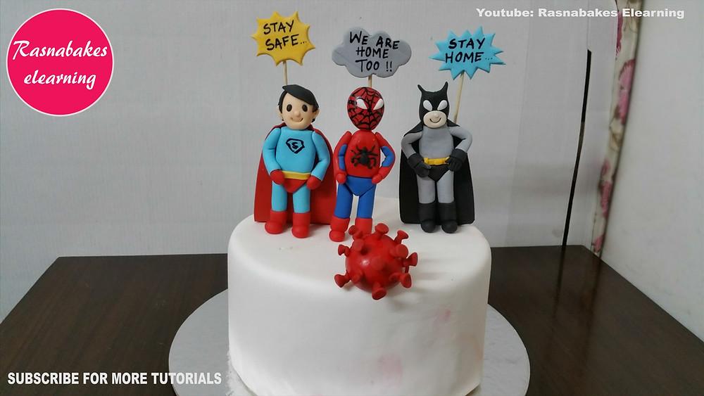 lockdown superhero cake design
