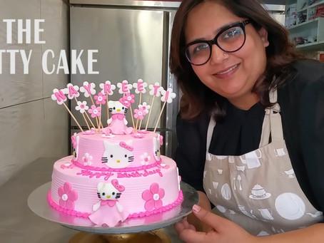 Easy Hello kitty birthday cake decorating tutorial