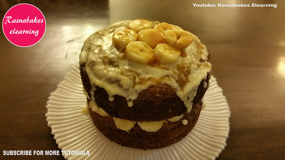 Banoffee Banana Victoria cream cheese cake recipe