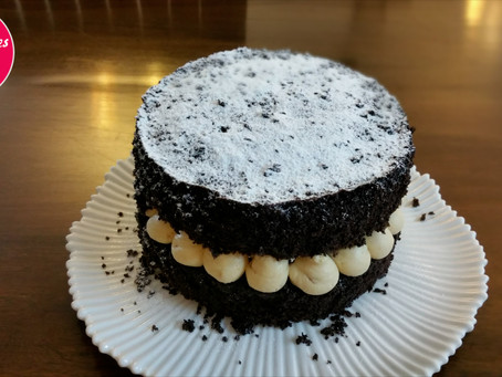 Chocolate and peanut butter Victoria cake