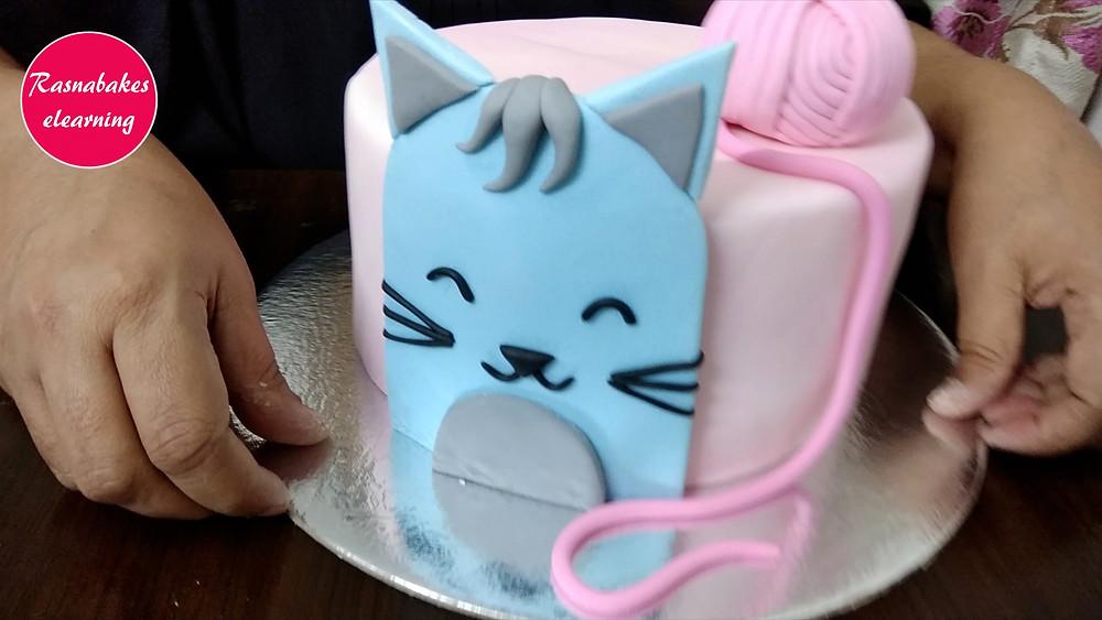 cat birthday home cake decorating ideas