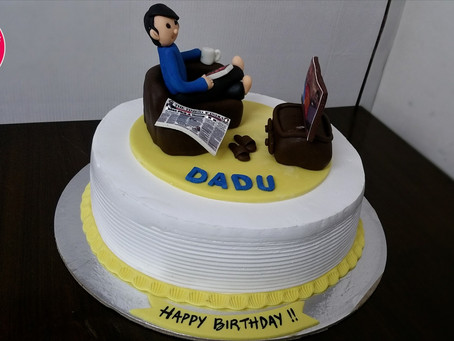 Birthday cake decoration for Father at home