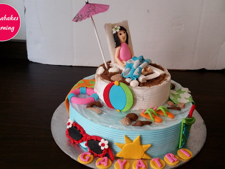 Wish i could go back to the beach:Lockdown thoughts:cake design