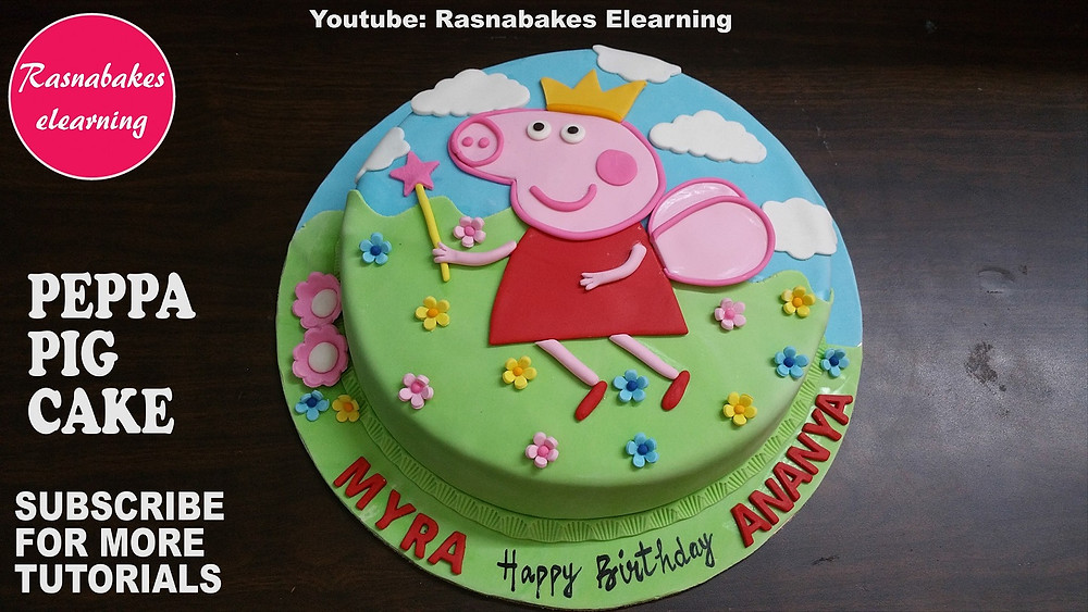 Super Peppa Pig Youtube Kids 2D Or 3D Birthday Cake Videos Peppa Pig Birthday Cards Printable Riciscafe Filternl