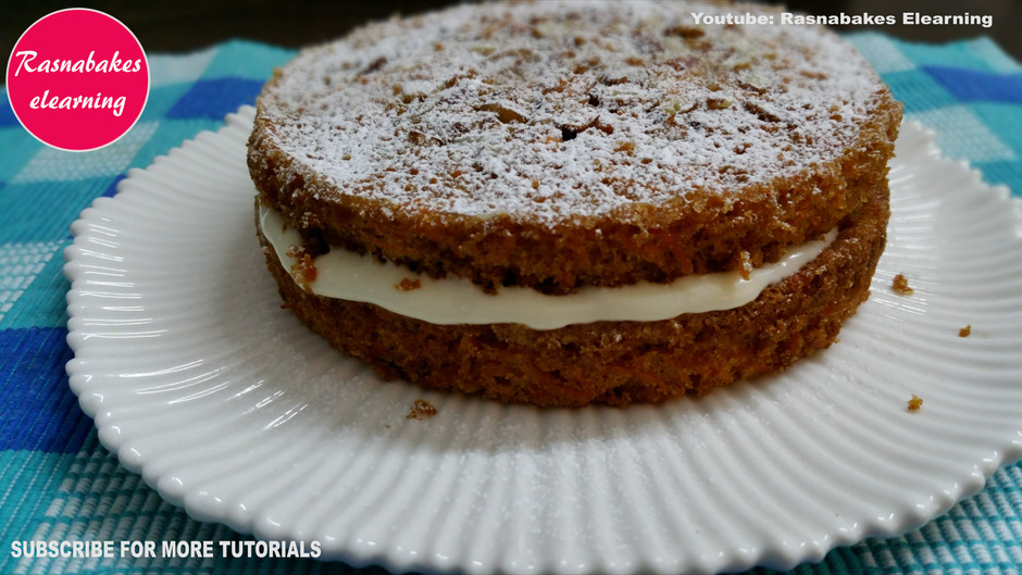 Carrot Victoria cake with cream cheese frosting icing recipe