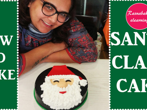 SANTA CLAUS FACE ON CAKE