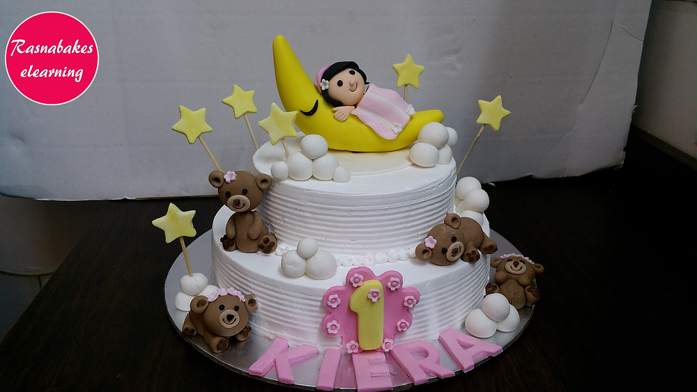 moon and stars first birthday cake design ideas cake decoration at home