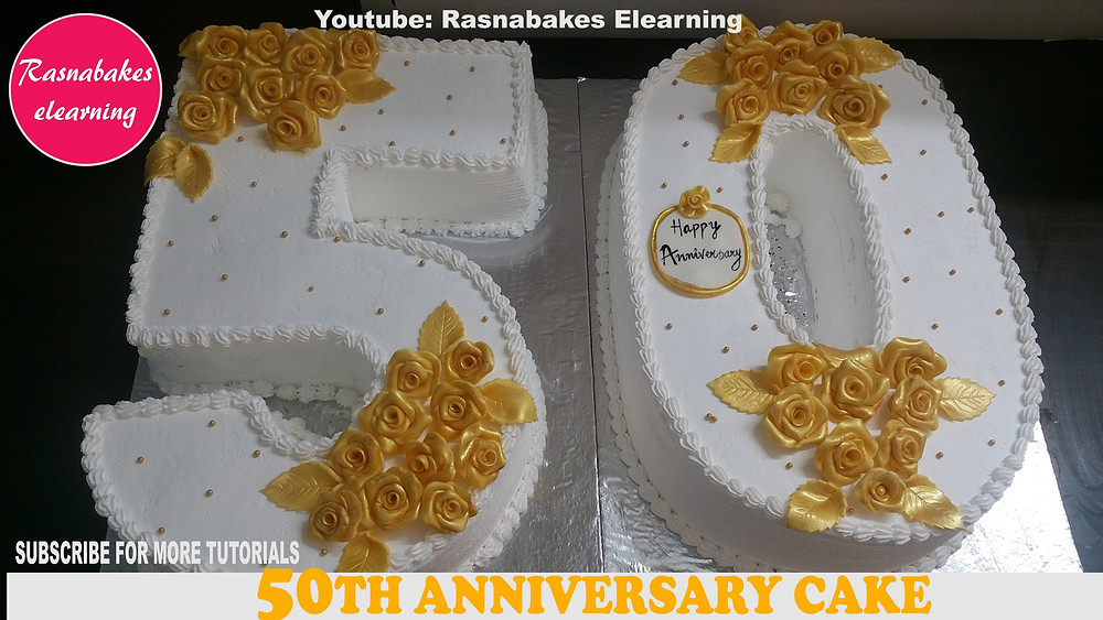 50th birthday or anniversary cake ideas
