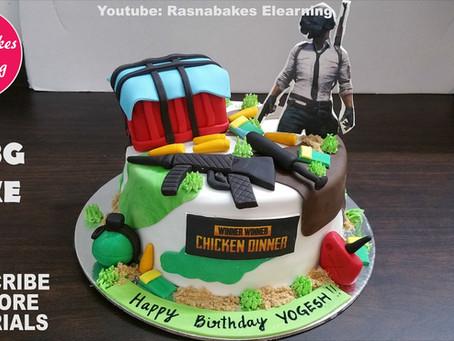 Pubg theme birthday cake design gift ideas