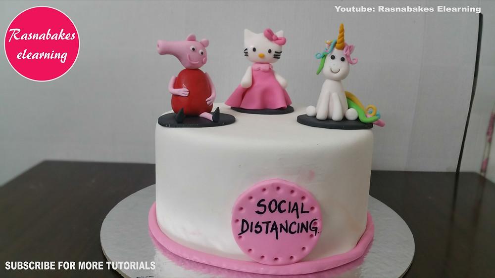 Social distancing cake