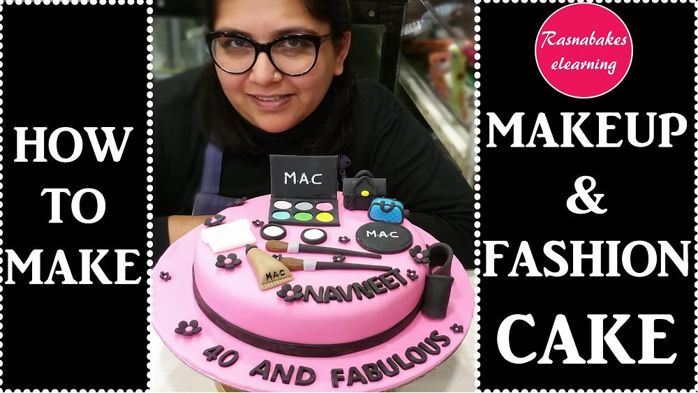Makeup cake design