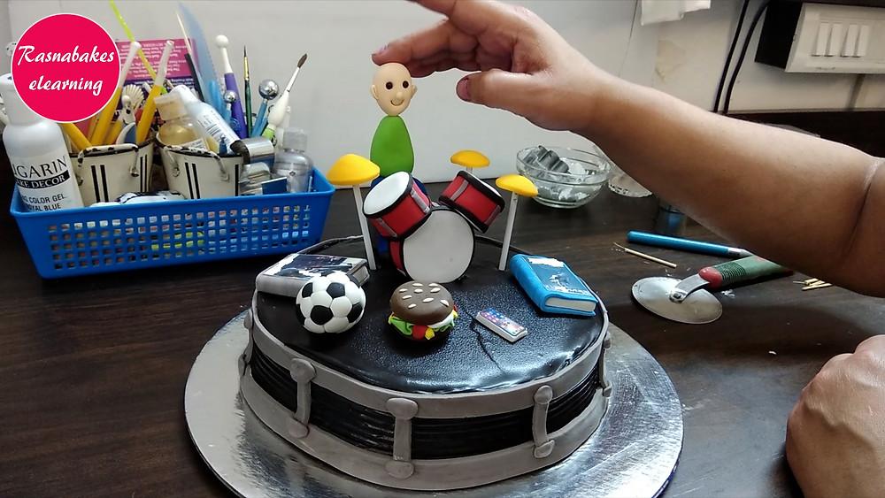 Drums cake decorating designs