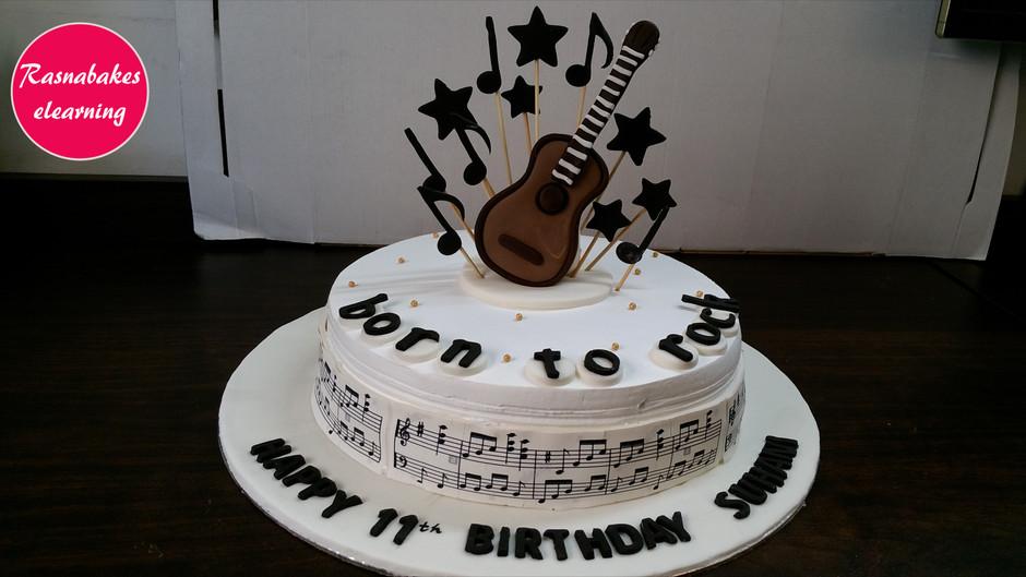 Guitar cake for your rockstar