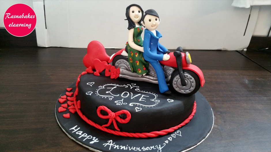 Together Forever on this journey we call Life: Happy Wedding Anniversary Cake
