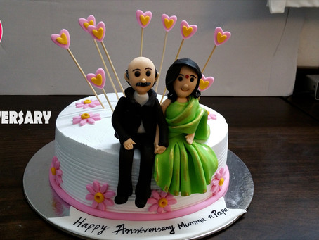 Happy marriage anniversary cake for Mom Dad