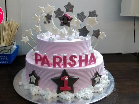 Cake design for kids 1st birthday decoration at home