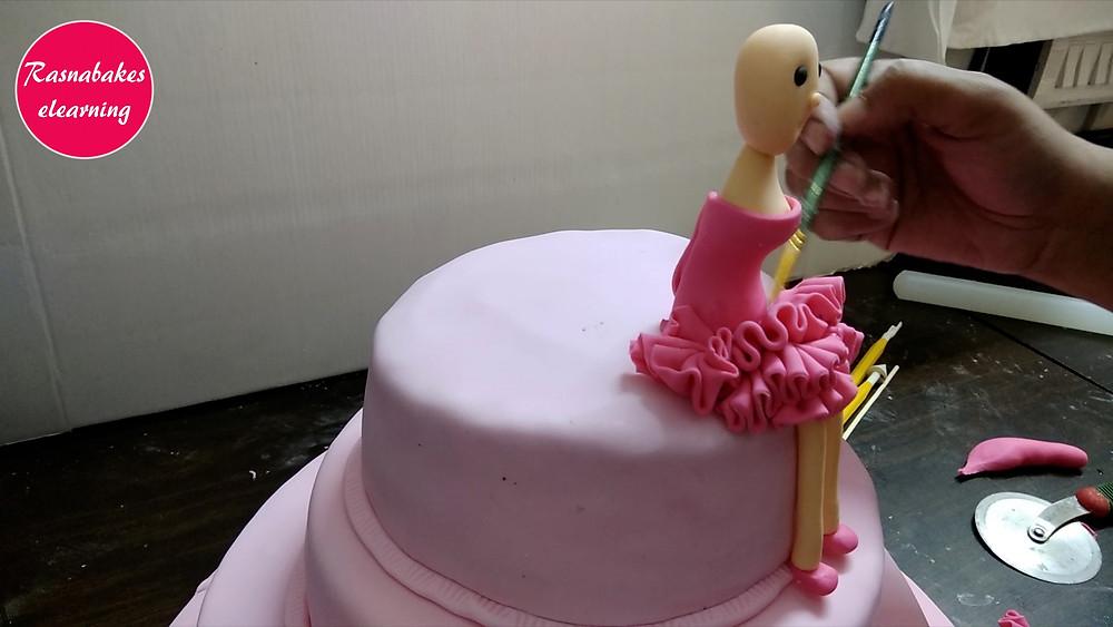 cake designing doll dress