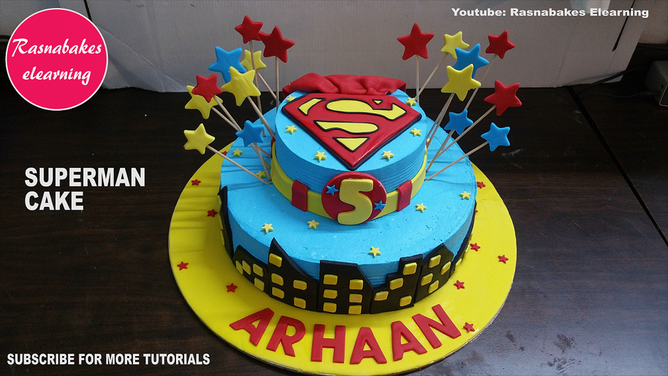 Birthday cake with name and decorations