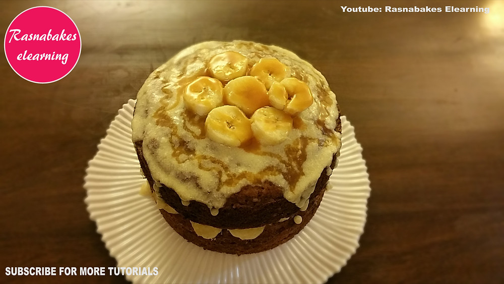 Banoffee Banana Victoria cream cheese cake recipe