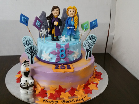 frozen 2 disney plus cake design