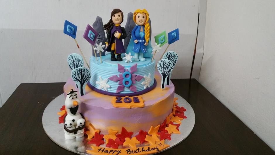 frozen 2 disney plus cake design