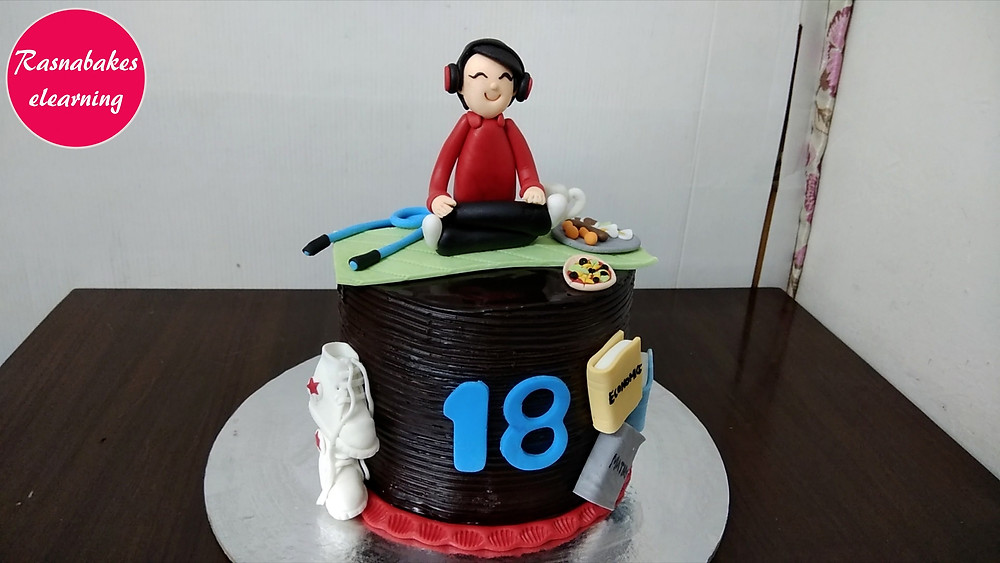 18th birthday fitness sneakers cake designs ideas decorating