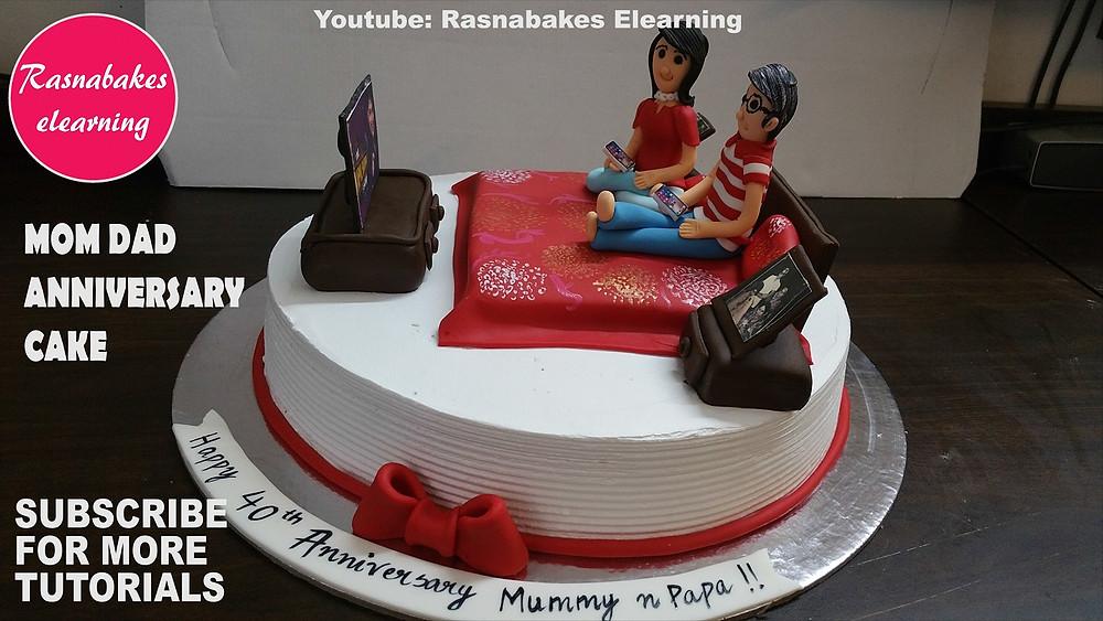 happy wedding anniversary cake