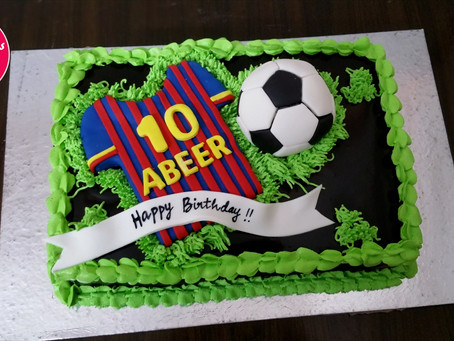 Football Jersey Cake design for Kids Birthday