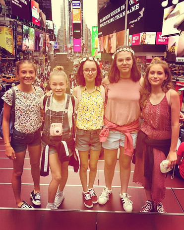 Times Square with my friends from the summer!
