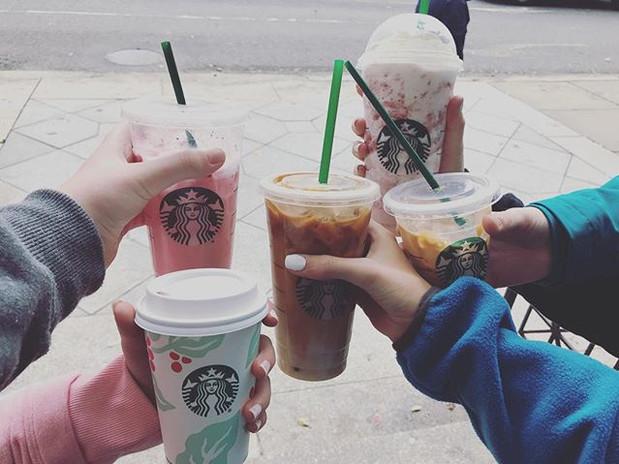 Starbucks with my friends!