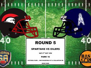 Round 5 - Spartans vs Oilers