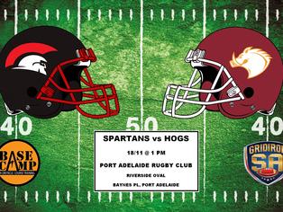 2017 Round 11 - Spartans vs Hogs