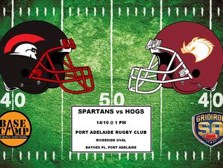 2017 Round 6 - Spartans vs Hogs