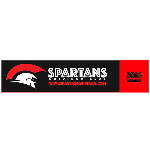 2016 Spartans Car Bumper Sticker