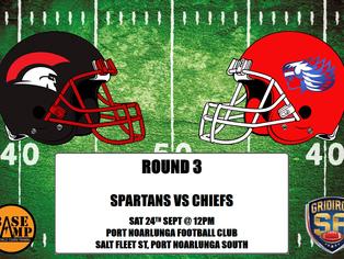 Round 3 - Spartans vs Chiefs