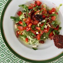 falafel et salade du jardin