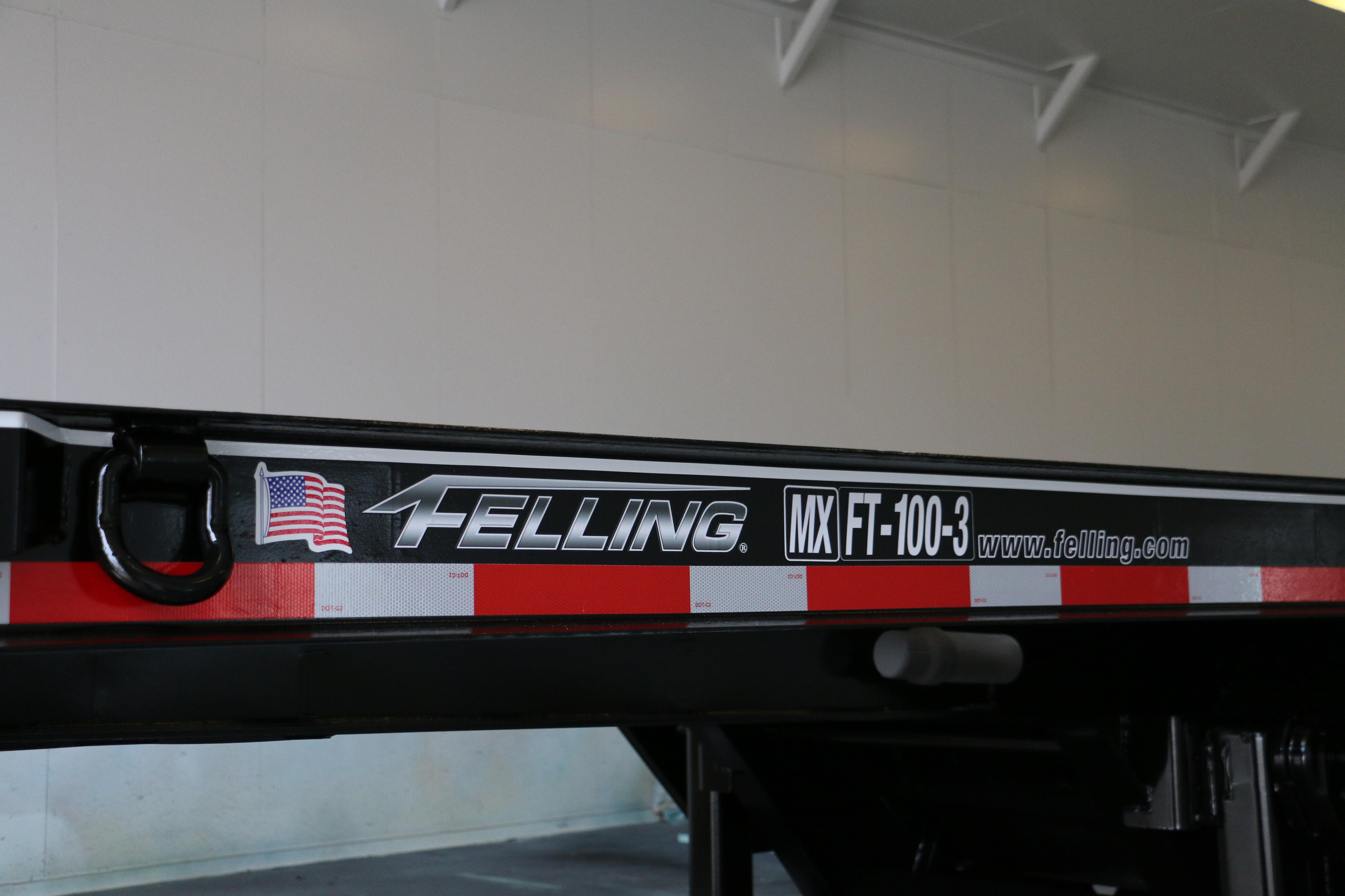 Freshly painted Felling trailer