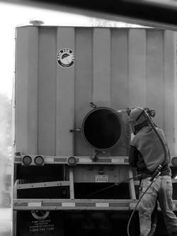 Frac Tank Sandblasting