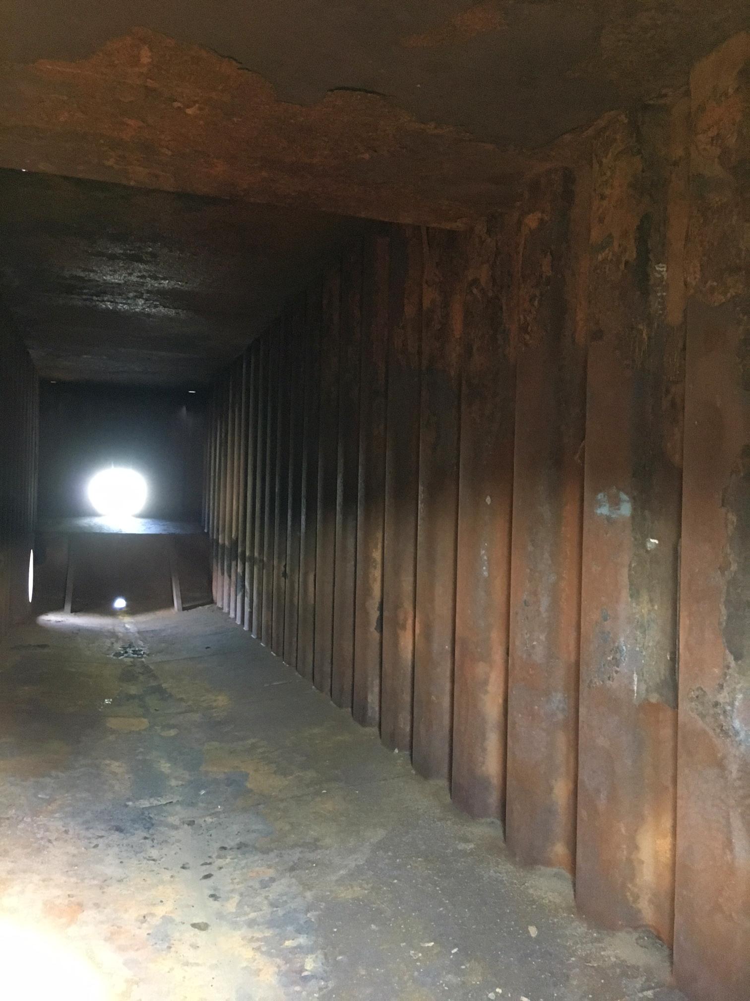 Frac tank inside
