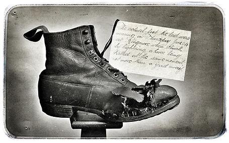 Lightning-struck boot