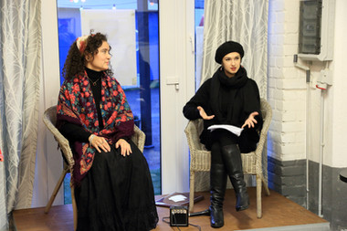Exhibition of Elma Ferchland's art - artist talk