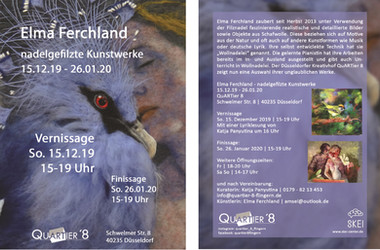 Art and culture - the flyer for Elma Ferchland's exhibition
