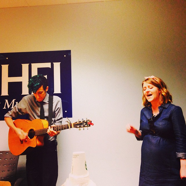 Thanks to _981CHFI for having us in for a staff performance! Last radio visit for awhile..