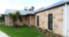 Colonial style sandstone cladding veneer - lightweight siding with thermal insulation