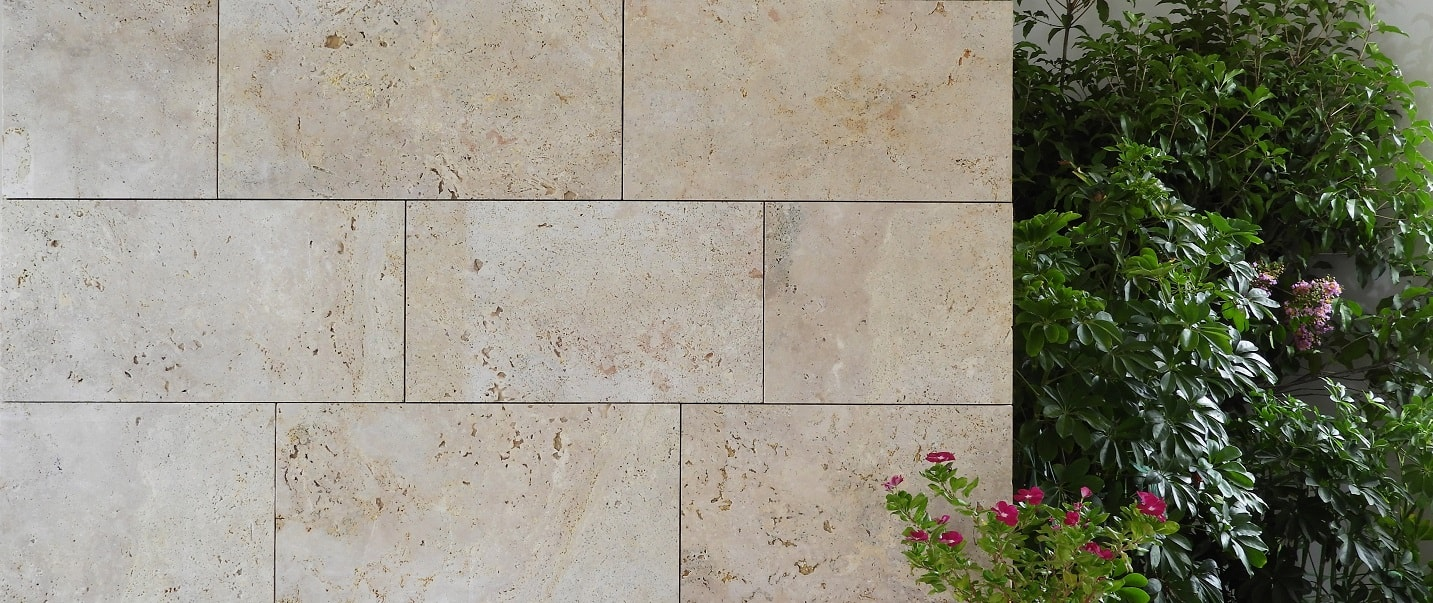 Beige Limestone Travertine Cladding